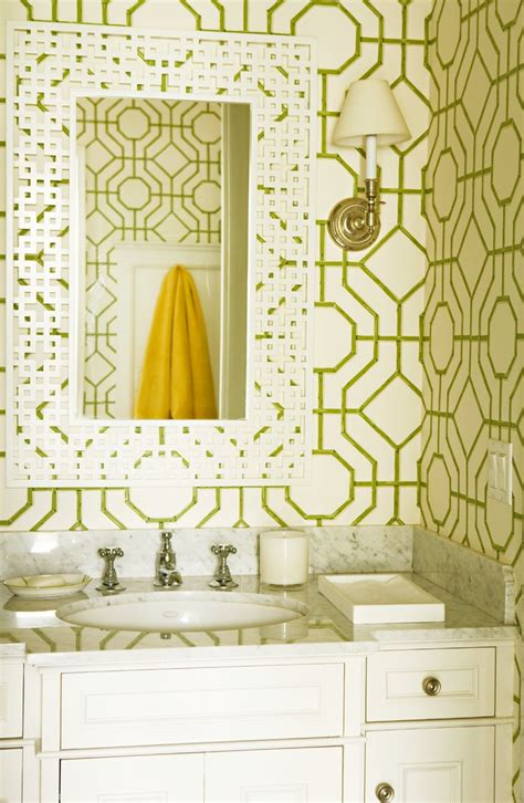 wallpaper patterns for bathroom stunning trellis wallpaper ballard designs decorating