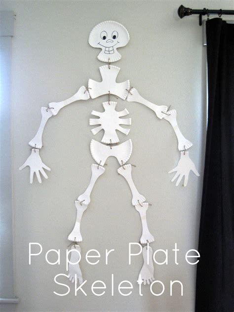 How To Make A Skeleton With Paper - some creativity paper plate skeleton tutorial