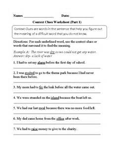 11 best images of easy synonyms worksheets context clues