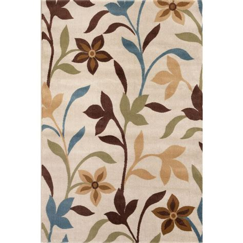 home design 7 x 10 world rug gallery modern contemporary leaves design cream
