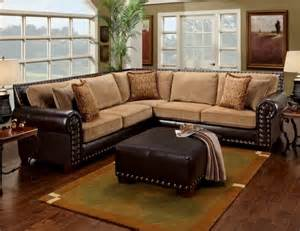 livingroom sectional leather studded sectional home two tones