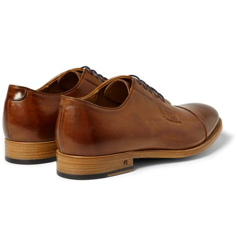 accessorize shoes lyst paul smith ernest burnished leather derby shoes in
