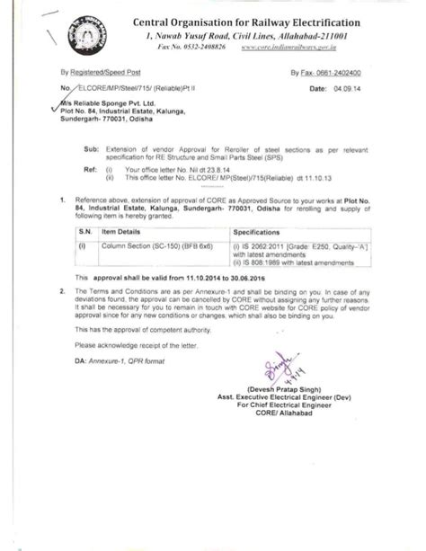 Sle Letter For Vendor Enlistment