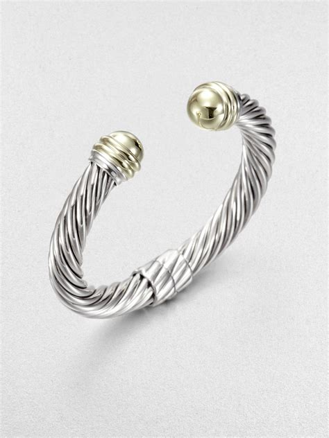 david yurman sterling silver 14k yellow gold cable