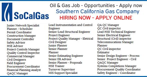 Southern California Edison Mba Internship by Socalgas Openings Socalgas Career Opportunities