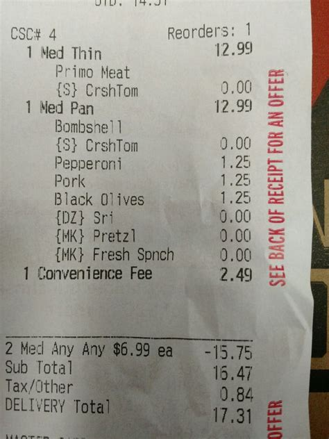 Pizza Receipt Template by Pizza Hut Closed 11 Photos Pizza 794 Neapolitan