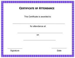 attendance certificate free template borders for baptism certificates studio design