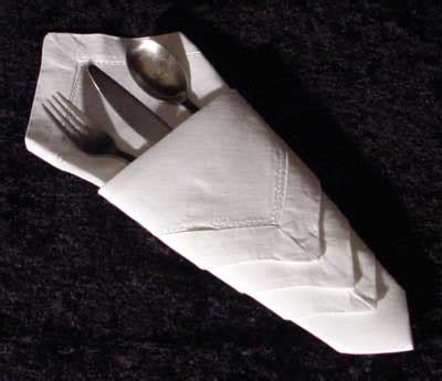 How To Fold Paper Napkins For A Dinner - for communications