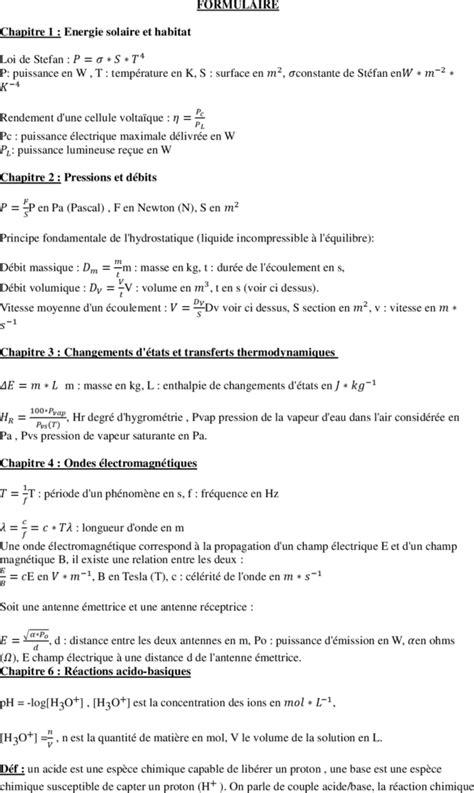 TI-Planet | Formule Physique Chimie terminal STI2D