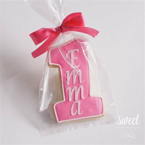 Unique Giveaways For 1st Birthday - personalized first birthday cookie favors by sweetcookieboutique