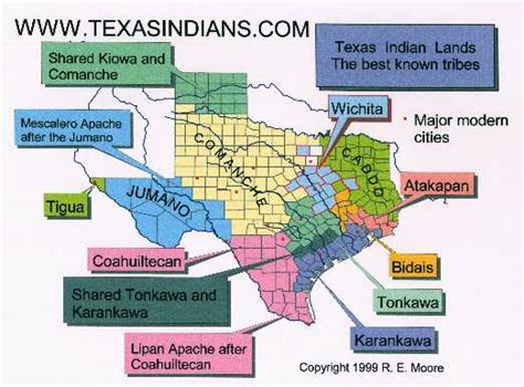 map of texas indians texas indians maps