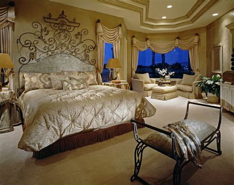 lushious bedroom   dreamy drapes  majestic bed interior design window treatments
