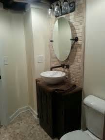 Basement Bathroom By Scott Schenkel Beveled Travertine Bathroom Tilt Mirror