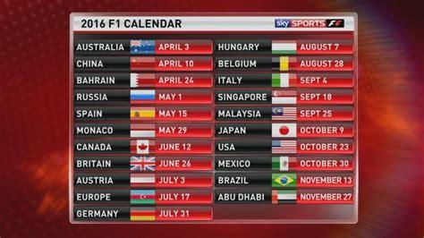 calendario formula 1 2016 21 gran premi in programma