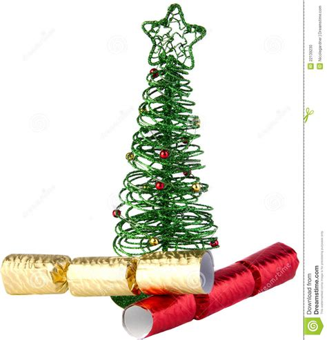 memory wire 4 12 ft christmas tree green wire tree with crackers stock photo image 22139230