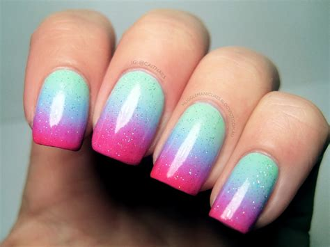 tutorial nail art gradient muggle manicures nail art pastel gradient with neon tips