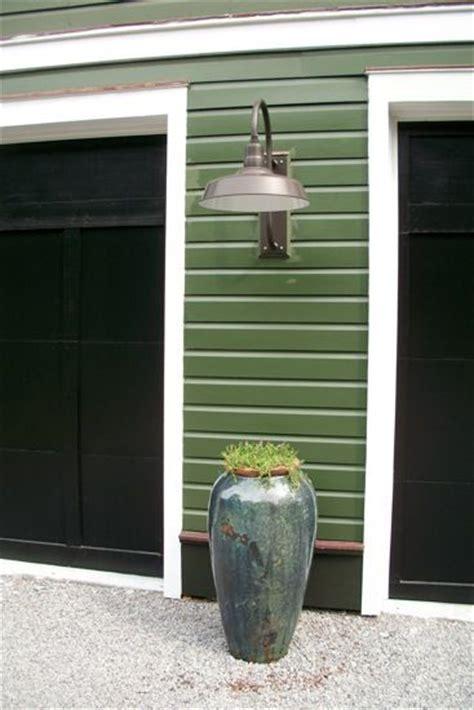 garage lights and garage doors on