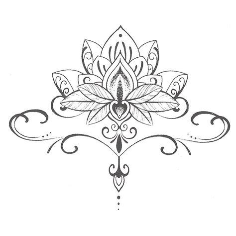 fleur de lotus mandala coloriagetv waterproof temporary tattoo stickers cute buddha lotus