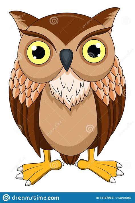 cute owl cartoon stock vector illustration  beak