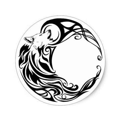 round tribal tattoo designs 21 best wolf and crescent moon images on