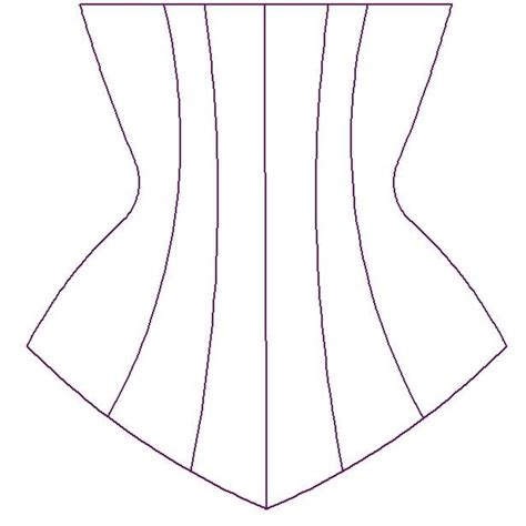 sewing pattern underbust corset paper sewing pattern for custom underbust corset