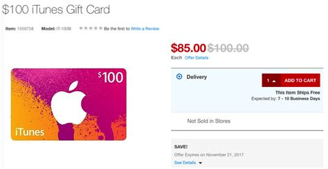 Who Has Itunes Gift Cards On Sale - itunes gift cards on sale at staples for 15 off iphone in canada blog canada s 1