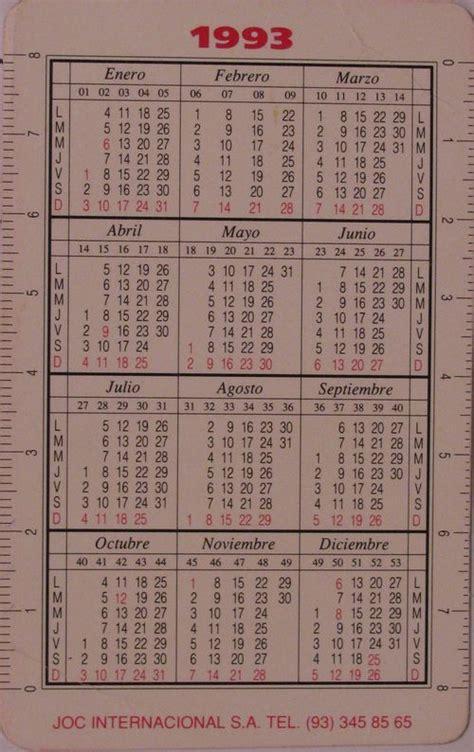 Calendario De 1993 Calendar 1993 New Calendar Template Site