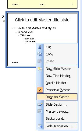 learn powerpoint 2003 for windows creating and renaming