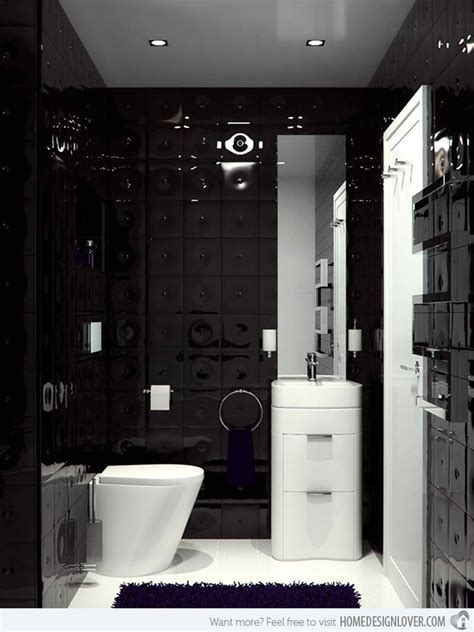 20 Sleek Ideas For Modern Black And White Bathrooms Home Black And White Modern Bathroom