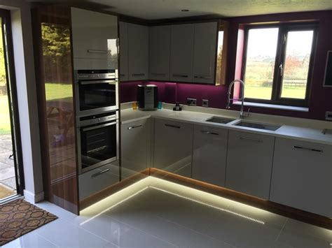 Gloss Interiors by Modern Grey Walnut Fitted Kitchen