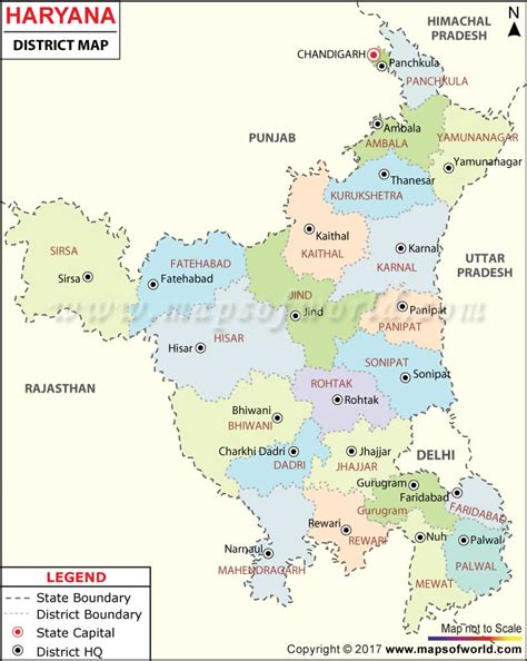 world map city wise haryana map districts in haryana