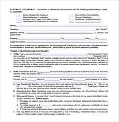 blank lease template sle blank lease agreement template 7 free documents