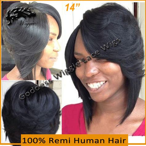 layered bob african american hair human full lace wigs brazilian hair layered bob wig 14