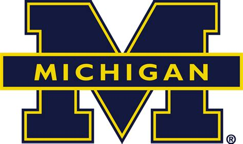 u of m colors michigan football logo vector www imgkid the image