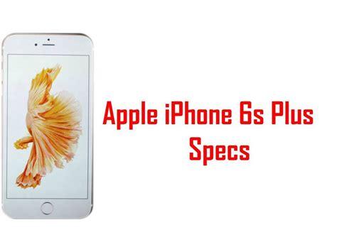 apple iphone 6s plus specs features