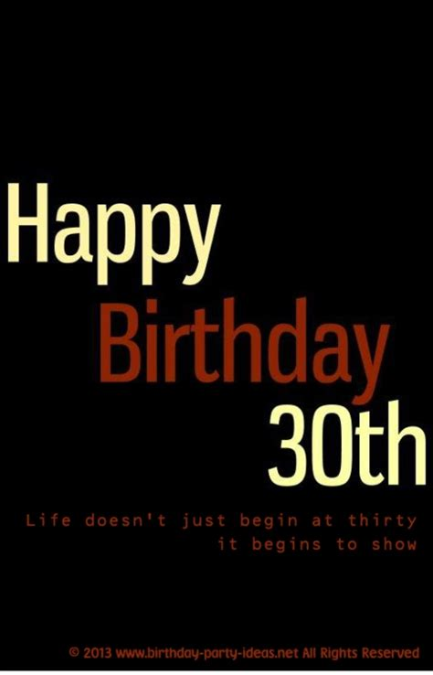 Quote 30th Birthday Happy 30th Birthday Quotes Quotesgram