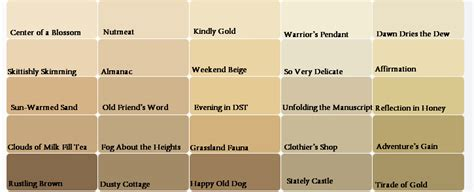 beige color chart with names pictures to pin on pinsdaddy
