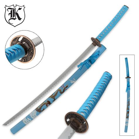 Flying Eagle Fast Blade Black Blue blue flying katana sword and scabbard kennesaw cutlery
