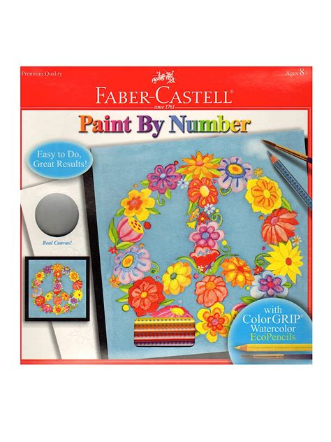 faber castell paint by number with watercolor pencils kits misterart
