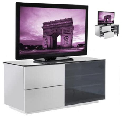 Black Tv Stand With Glass Doors Parin White Gloss 2 Drawer Tv Stand With Black Glass Door