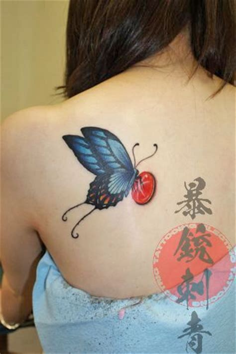 opal tattoo blue swallowtail butterfly tats