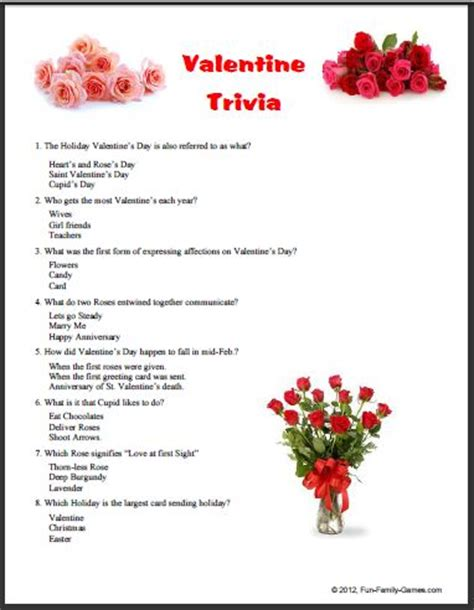 valentines question a trivia quiz to test your knowledge of the