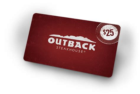 Gift Card Outback - image gallery outback steakhouse gift card