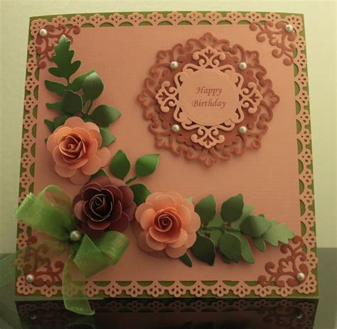 Handmade Paper Cards Ideas - cards with handmade paper roses paper blossoms