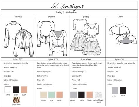 line sheet templates sle line sheet template fashion line sheet exle