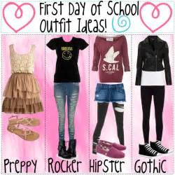 Middle school outfit ideas first day of school outfit first day