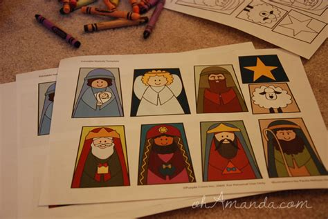 printable nativity scene puppets nativity finger puppet template new calendar template site