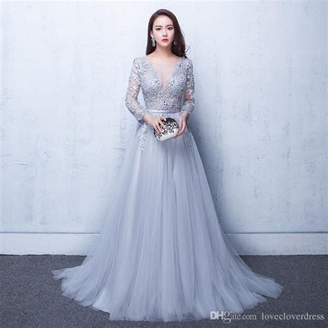 Longdress Gate illusion evening gowns lace formal 2017 real photos
