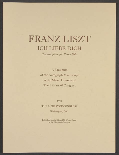 alan walker liszt biography ich liebe dich arr library of congress