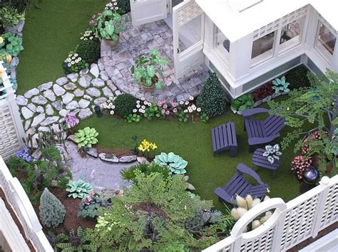 doll house garden susan s miniatures dollhouse garden pinterest